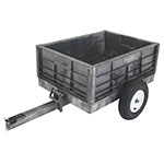 Rubbermaid FG566261 BLA .3-cu yd Trash Cart w/ 400-lb Capacity, Black