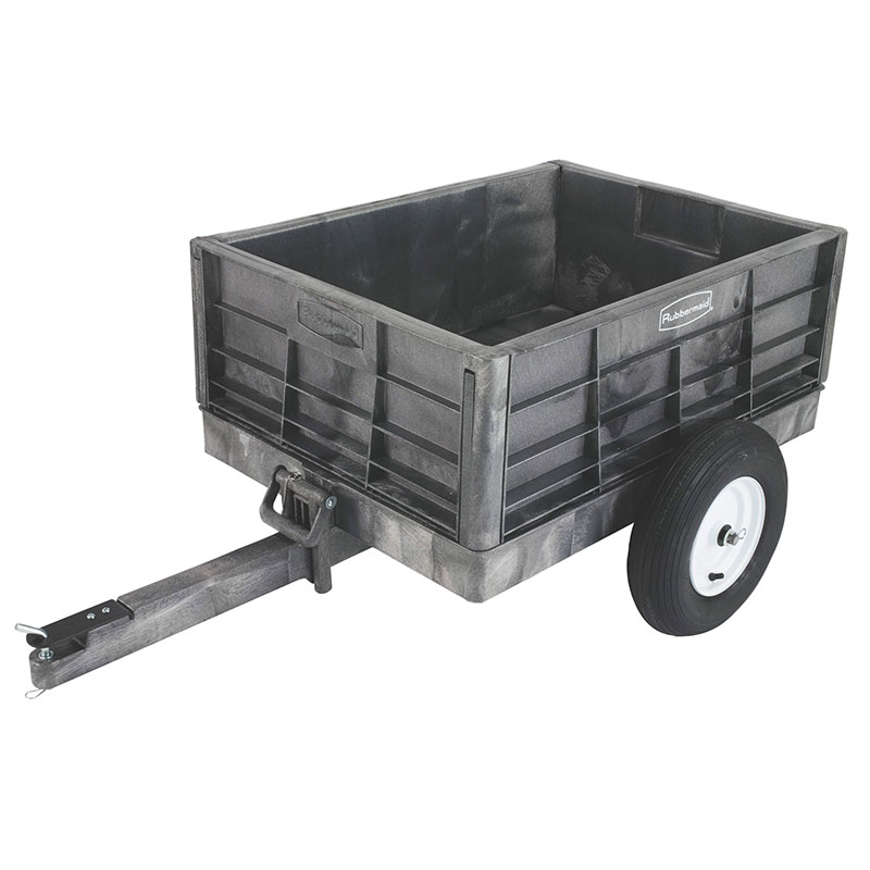 "Rubbermaid FG566261 BLA Tractor Cart - 8 cu ft Capacity, 25x60x39-1/4"" Black"