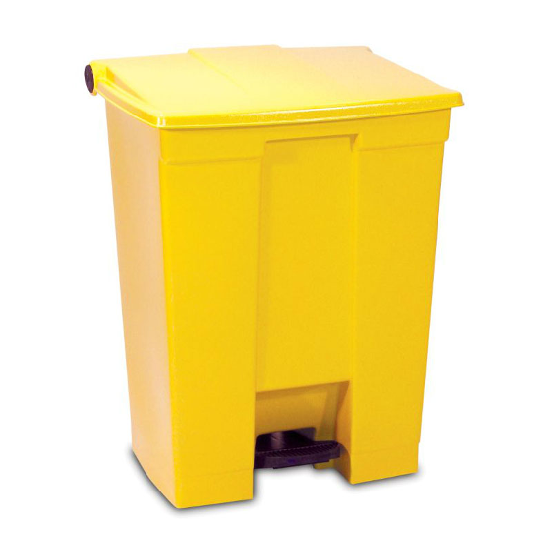 Rubbermaid FG614500YEL 18-gal Step-On Container - Heavy-Duty Pedal, Yellow