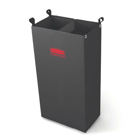 Rubbermaid FG617600BLA Divided Fabric Bag - Black