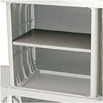 Rubbermaid FG619500 BLA Adjustable Shelf Kit - Housekeeping Cart
