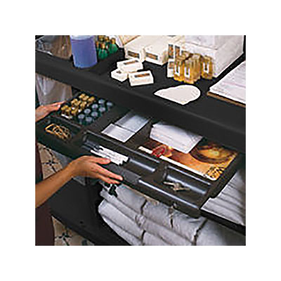 Rubbermaid FG619900 BLA Locking Utility Drawer - Traditional Housekeeping Cart