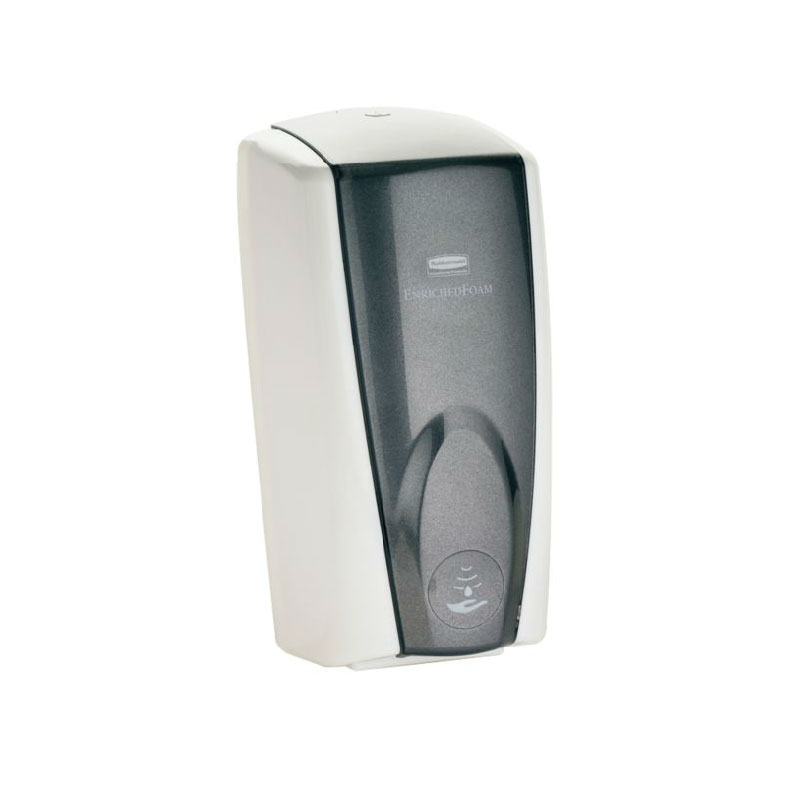 Rubbermaid FG750138 1100-ml AutoFoam Soap Dispenser - White/Black Pearl