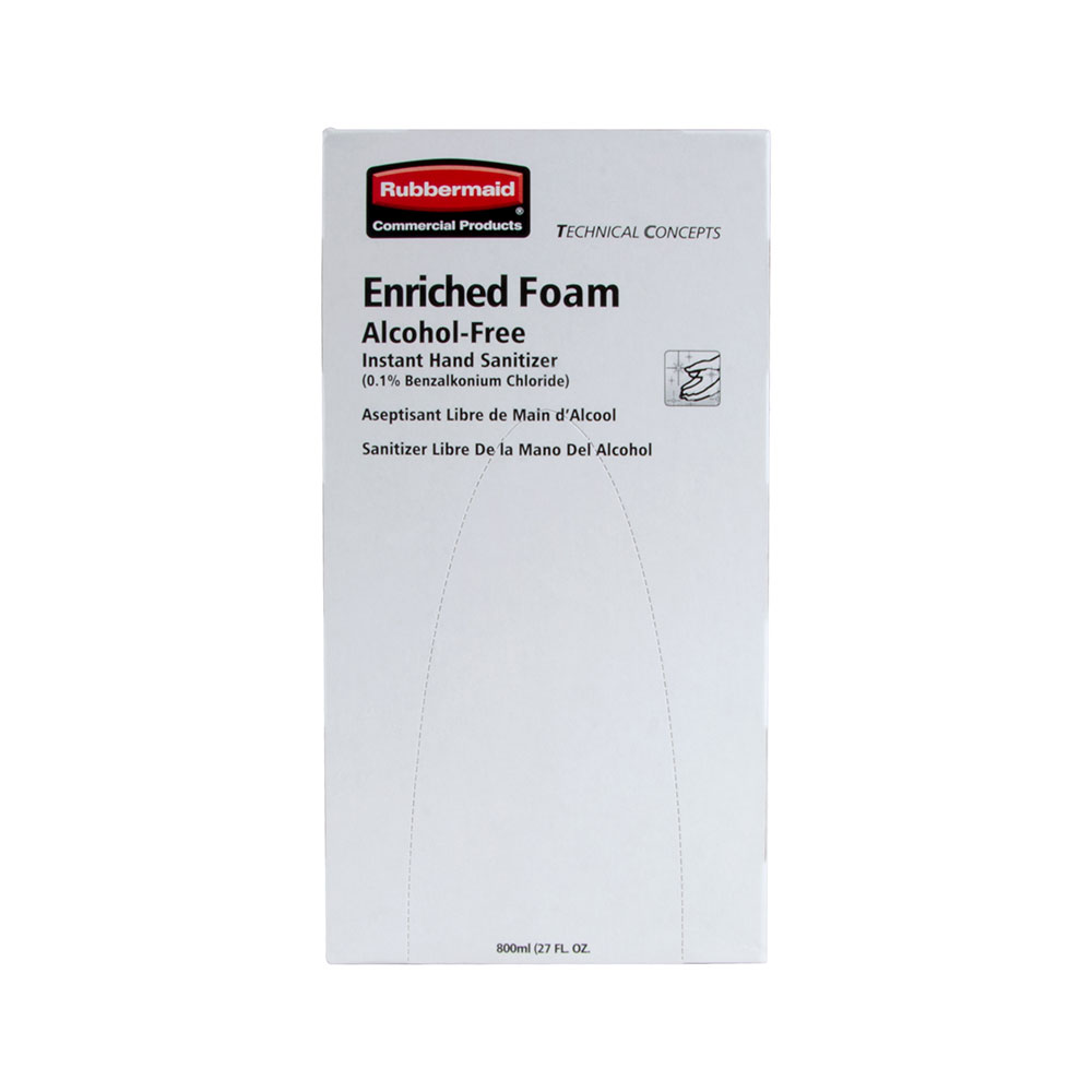 Rubbermaid FG750592 800-ml Hand Sanitizer Refill - Alcohol-Free, Enriched Foam