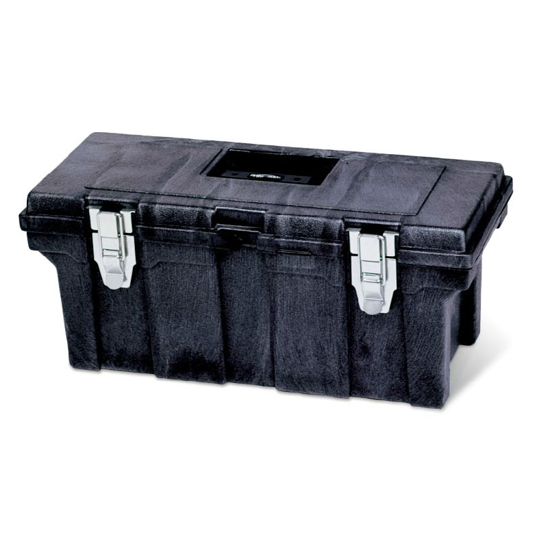 Rubbermaid FG780200 BLA Plastic Tool Box w/ Removable Trays, Black