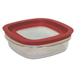 Rubbermaid FG7H76TRCHILI 3-Cup Premier Storage Container - Chili Red Lid
