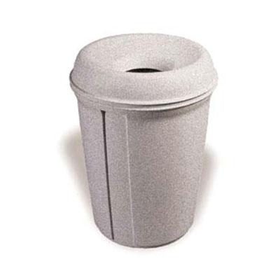 Rubbermaid FG905886WGRAN 35-gal Indoor Decorative Trash Can - Plastic, White