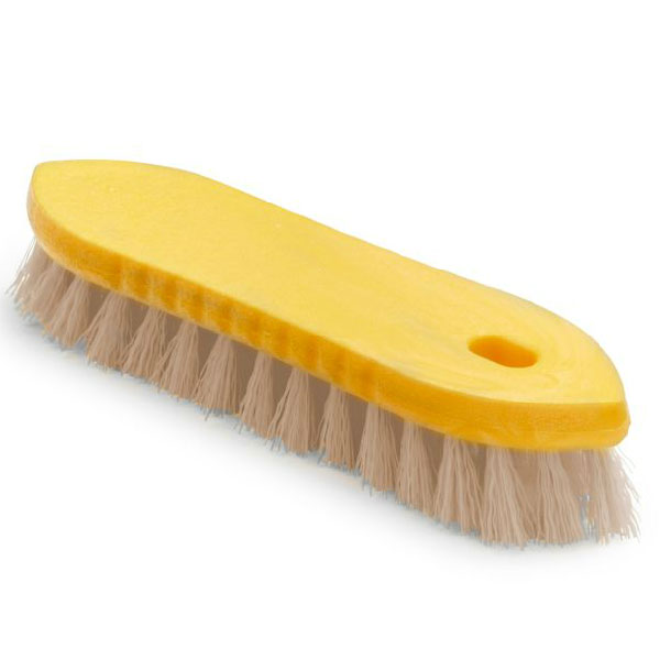"Rubbermaid FG9B2500 YEL 9"" Scrub Brush - Pointed Block, Tampico Fill, Yellow"