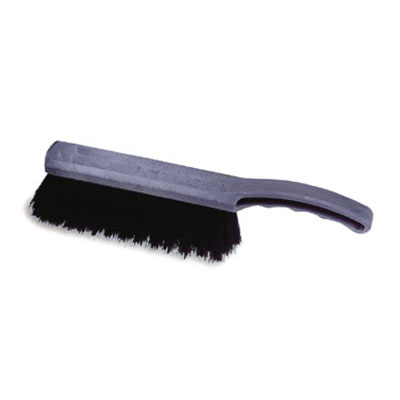 "Rubbermaid FG9B2700 BLA 8"" Counter Brush - Curved Handle, Poly Fill, Black"