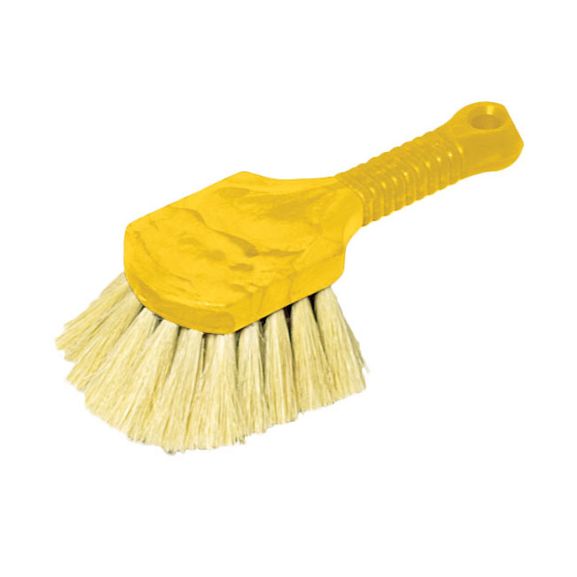 "Rubbermaid FG9B3000 YEL 8"" Utility Brush - Plastic Handle, Tampico Fill, Yellow"