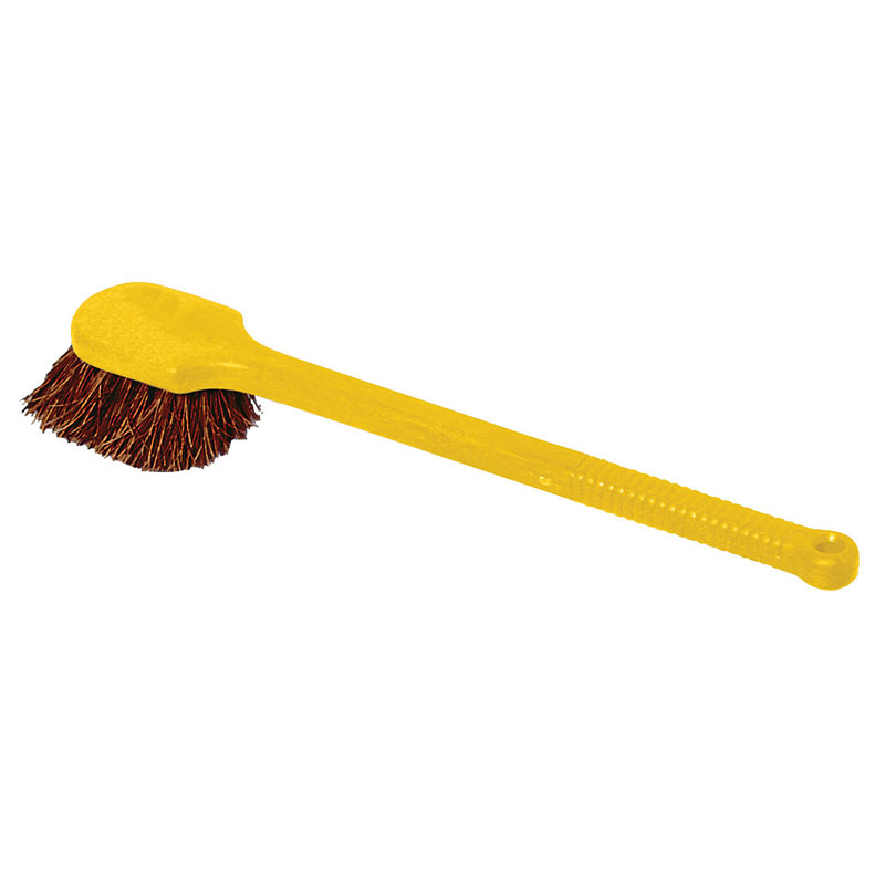 "Rubbermaid FG9B3100 BRN 20"" Utility Brush - Plastic Handle, Palmyra Fill, Brown"