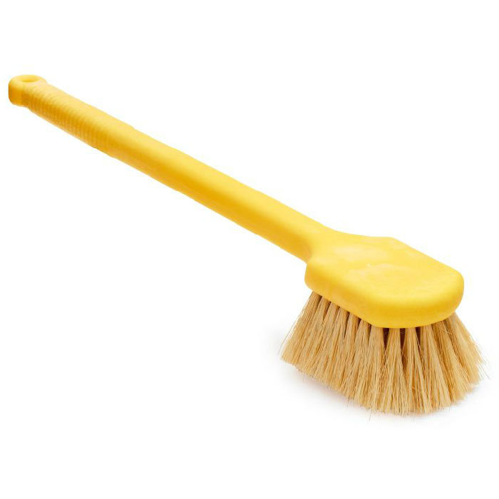 "Rubbermaid FG9B3300 YEL 20"" Utility Brush - Plastic Handle, Tampico Fill, Yellow"