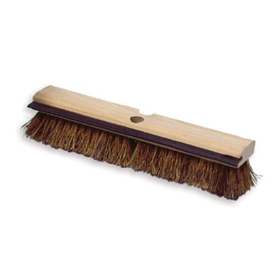 "Rubbermaid FG9B3500 BRN 14"" Deck Brush - Wood Block, Squeegee, Palmyra Fill, Brown"