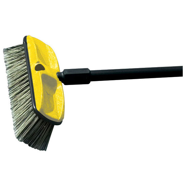 "Rubbermaid FG9B3700 GRAY 10"" Wash Brush - Plastic Block, Flagged Synthetic Fill, Gray"