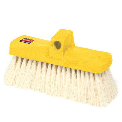 "Rubbermaid FG9B3800 YEL 8.5"" Wash Brush - Plastic Block, Tampico Fill, Yellow"