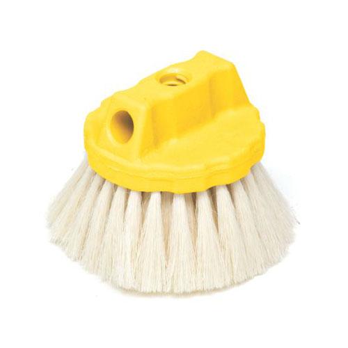 "Rubbermaid FG9B3900 YEL 5"" Wash Brush - Round Block, Tampico Fill, Yellow"