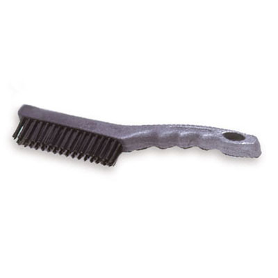 "Rubbermaid FG9B4100 GRAY 11"" Wire Brush - Short Plastic Handle, Gray"