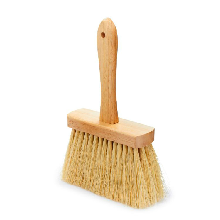 "Rubbermaid FG9B4900 YEL 11.5"" Masonry Brush - Wood Handle, Tampico Fill, Yellow"