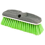 "Rubbermaid FG9B7200 GRN 10"" Wash Brush - Plastic Block, Nylon Fill, Green"