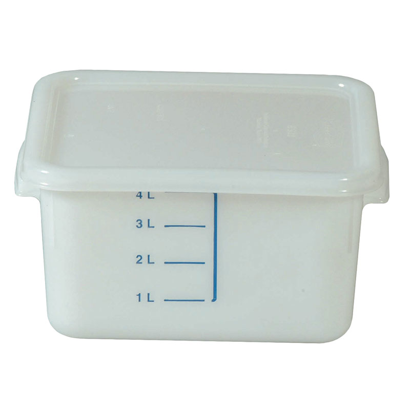 Rubbermaid FG9F0400 WHT 4-qt Square Storage Container - Poly White