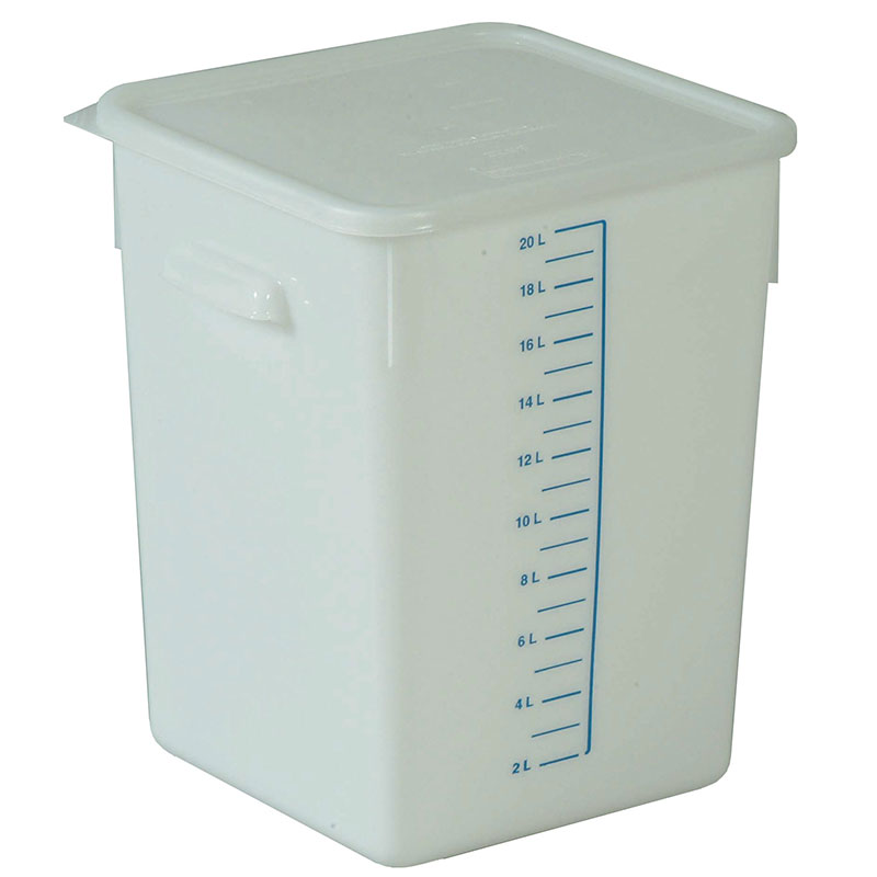 Rubbermaid FG9F0900 WHT 20-qt Square Storage Container - Poly White