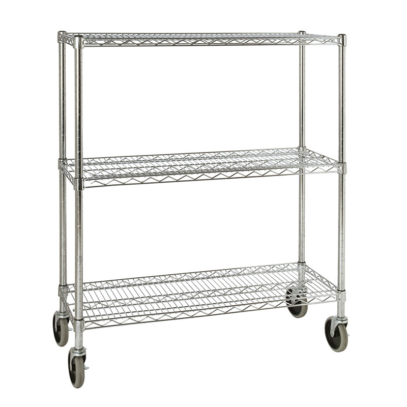 Rubbermaid FG9G7900 CHRM 3 Shelf Safety Storage Rack 600 Cup