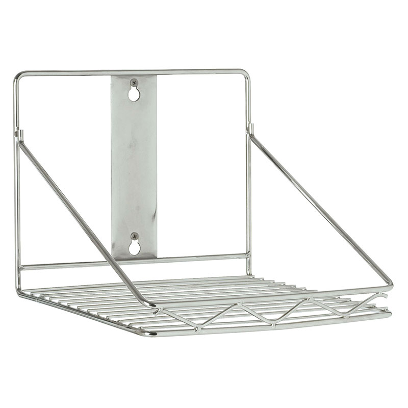 Rubbermaid FG9G8100 CHRM Safety Wall-Mounted Storage Rack - 20-lb Capacity, 10-1/2x10-3/5x7