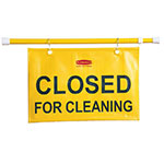 Rubbermaid FG9S1500 YEL Closed for Cleaning Sign - Yellow