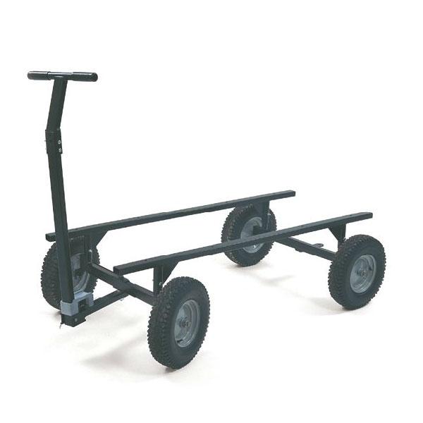 """Rubbermaid FG9T0600 BLA Convertible Wagon Platform - 3500-lb Capacity, 16"""" Castors/Wheels, Black"""