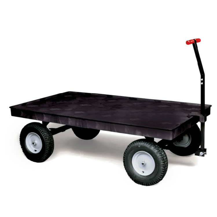 "Rubbermaid FG9T0700 BLA Convertible Wagon Platform - 2000-lb Capacity, 12"" Castors/Wheels, Black"