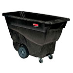 Rubbermaid FG9T1300 BLA .5-cu yd Trash Cart w/ 450-lb Capacity, Black