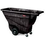 Rubbermaid FG9T1400 BLA .5-cu yd Trash Cart w/ 850-lb Capacity, Black