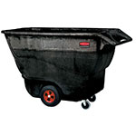 Rubbermaid FG9T1500 BLA 1-cu yd Trash Cart w/ 1250-lb Capacity, Black