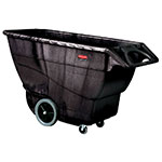 Rubbermaid FG9T1600 BLA 1-cu yd Trash Cart w/ 2100-lb Capacity, Black