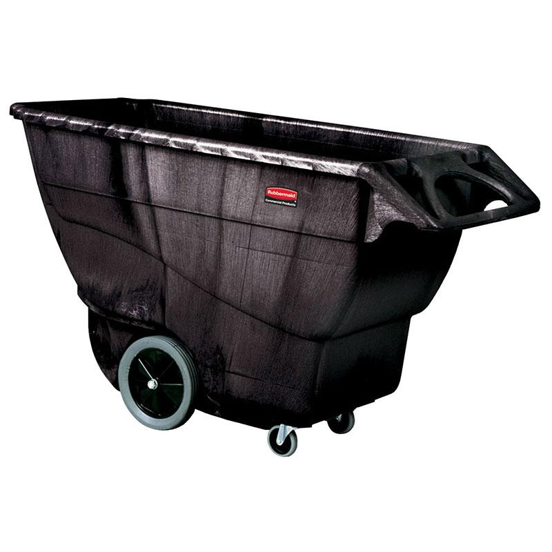 Rubbermaid FG9T1600 BLA 1-cu yd Trash Cart w/ 2100-lb Capacity, Black