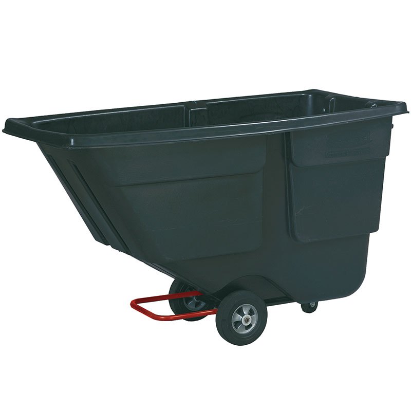 Rubbermaid FG9T1700 BLA .5-cu yd Trash Cart w/ 300-lb Capacity, Black