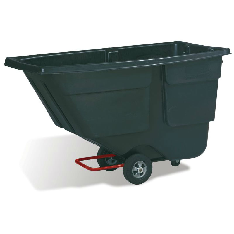 Rubbermaid FG9T1800 1-cu yd Trash Cart w/ 600-lb Capacity, Black
