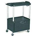 Rubbermaid FG9T3200 BLA 3-Level Media Cart w/ 200-lb Capacity & 10-ft Cord