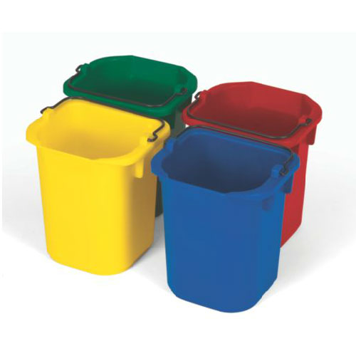 Rubbermaid FG9T8301 0000 5-qt Disinfecting Pail Set (4) - Multi-Colored