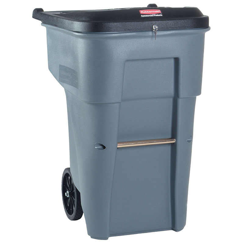Rubbermaid FG9W1088 GRAY 65-gal BRUTE Confidential Document Container - Gray