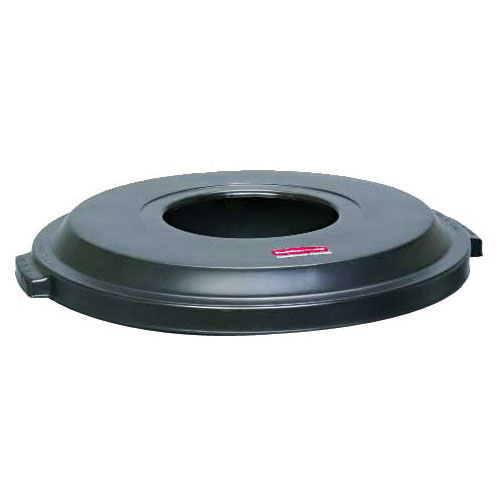 "Rubbermaid FG9W1300 BLA 22"" Atrium Container Lid - Black"
