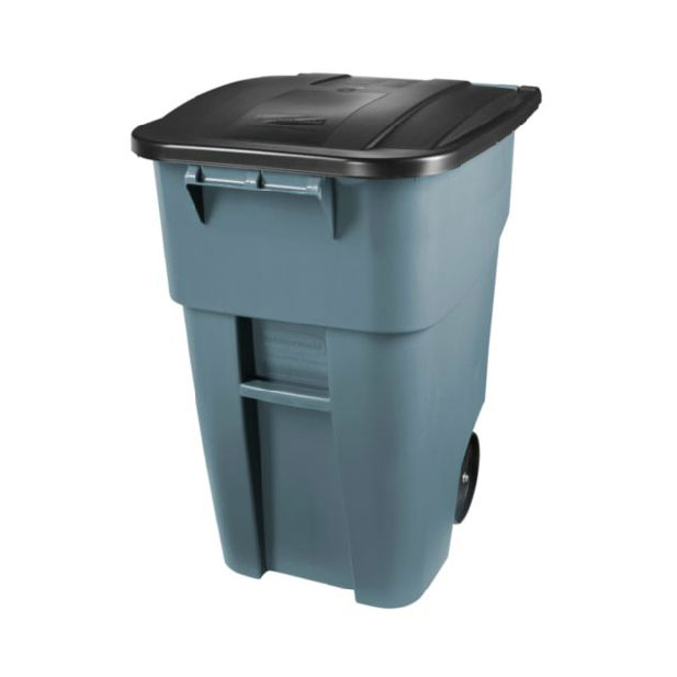Rubbermaid FG9W2700YEL 50-gal BRUTE Recycling Rollout Container with Lid - Yellow