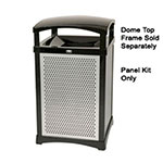 Rubbermaid FG9W5000DGRN 35-gal Infinity Square Perforated Panel Kit - Dark Green
