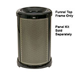Rubbermaid FG9W5400 SILV 32-gal Infinity Perforated Panel Kit - Round, Silver