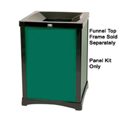 Rubbermaid FG9W5600DGRN 50-gal Infinity Solid Panel Kit - Square, Dark Green