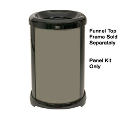 Rubbermaid FG9W5900 BRNZ 32-gal Infinity Solid Panel Kit - Round, Bronze