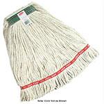 "Rubbermaid FGA11106GR00 Small Wet Mop Head - 1"" Headband, Cotton/Synthetic Blend, Green"