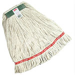 """Rubbermaid FGA11106WH00 Small Wet Mop Head - 1"""" Headband, Cotton/Synthetic Blend, White"""