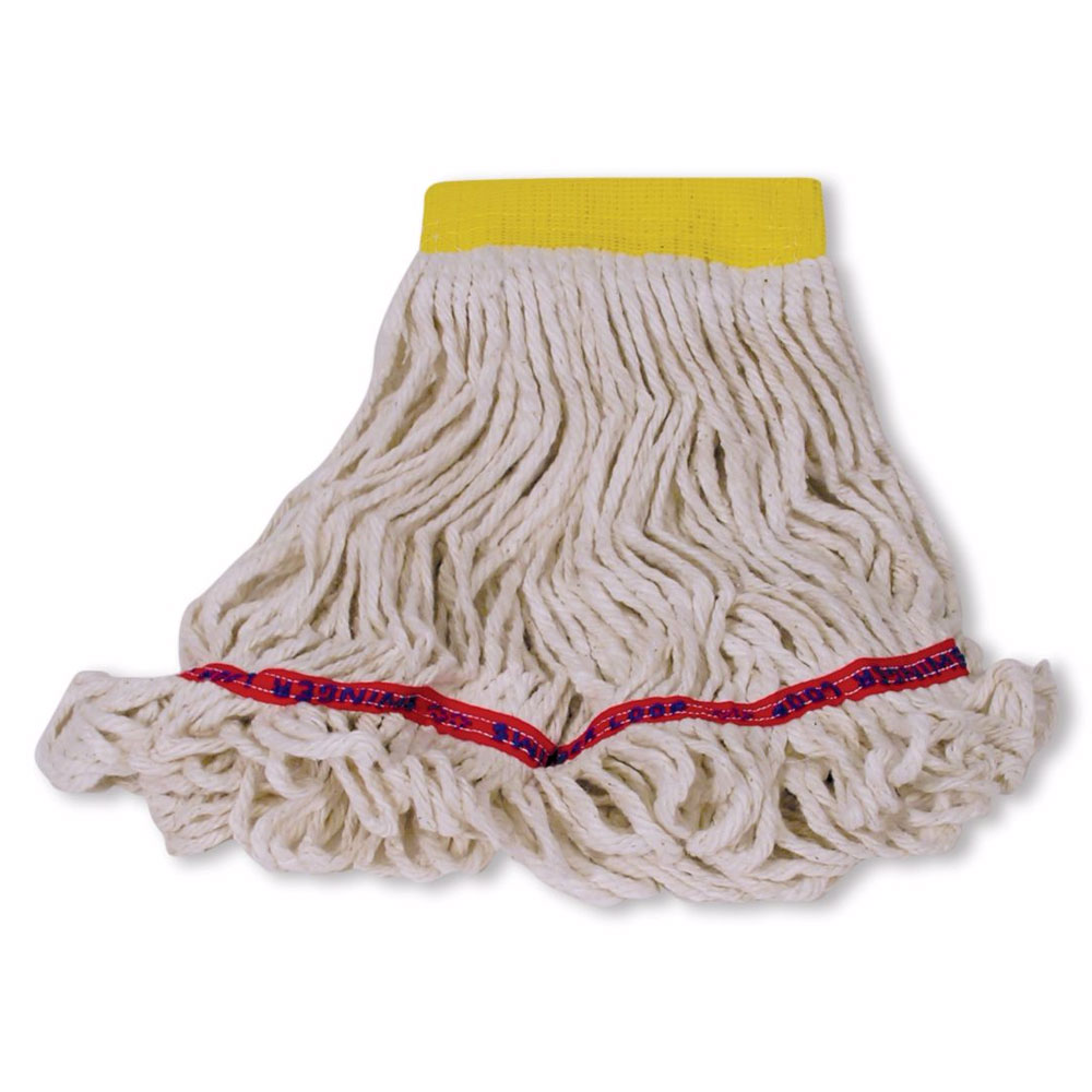 "Rubbermaid FGA15106WH00 Small Wet Mop Head - 5"" Headband, Cotton/Synthetic Blend, White"