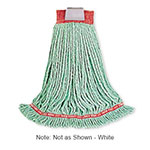 "Rubbermaid FGA21106 WH00 Small Wet Mop Head - 1"" Headband, 4-Ply Cotton/Synthetic Blend, White"